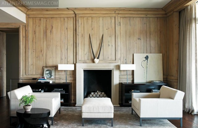 Buddy Holly Keeps A Watchful Eye Over This End Of The Living Room, With Its  Intimate Seating Arrangement And Limestone Fireplace. Designer Betsy Brown  ...
