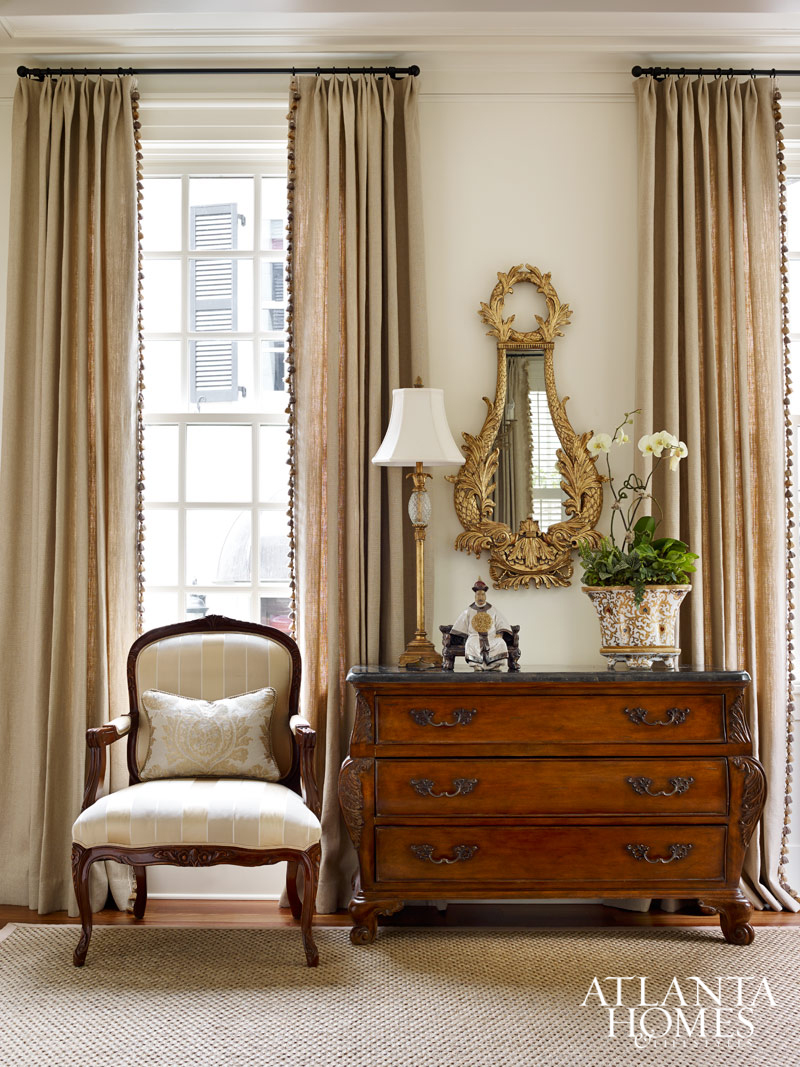 the cream colored palette continues throughout the house creating a
