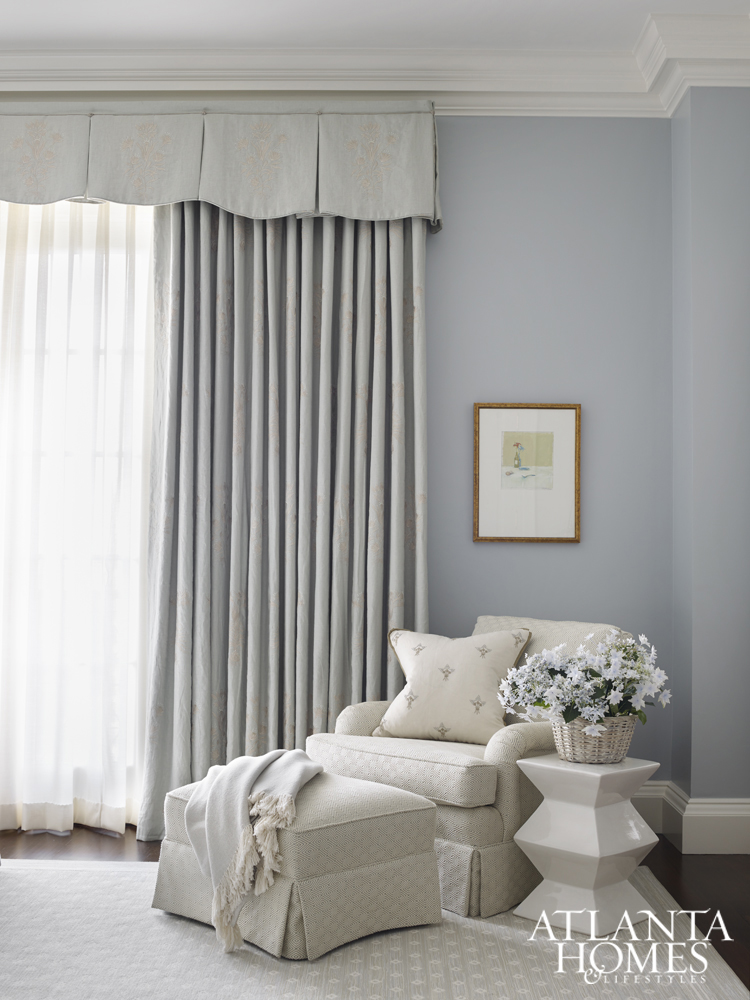 Pale Blue Adds A Soothing Touch In The Guest Bedroom