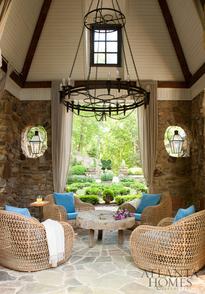 Nestled Into The Hillside And Sited On Three Bountiful Acres, This Sandy  Springs Abode Is Seamlessly Connected To Its Nuanced Interiors Thanks To  The Design ...