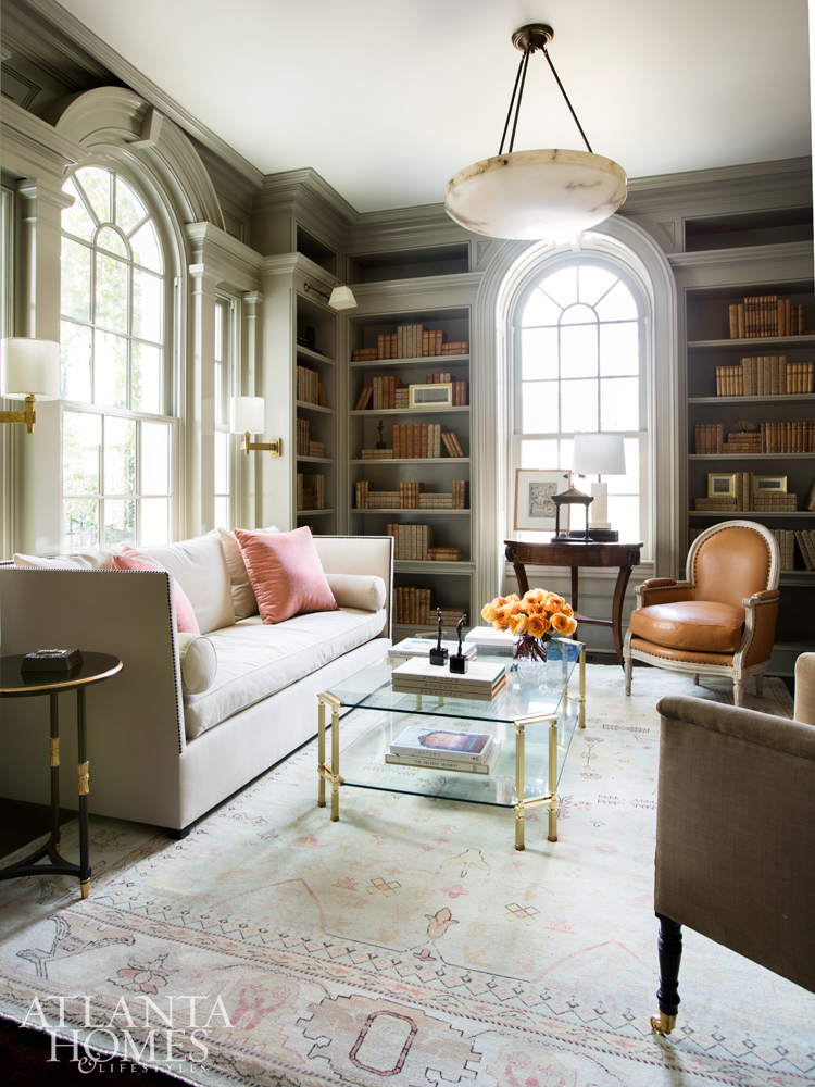Always Sensitive To A Home S Interior Architecture Kasler Created Calm In The Library With Gorgeous Gray Stain I Just Love Patina Of That Room